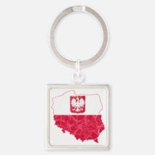 Poland(stateensigns) Flag and Map  Square Keychain