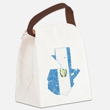 Guaemala Flag and Map Cracked Canvas Lunch Bag