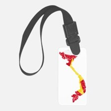 Vietnam Flag and Map Cracked Luggage Tag