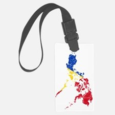 Philippines Flag and Map Cracked Luggage Tag