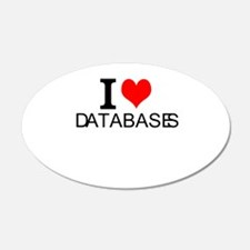 I Love Databases Wall Decal