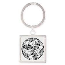 Heather Hill Square Keychain