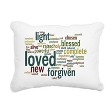 Who I am in Christ Teal Rectangular Canvas Pillow