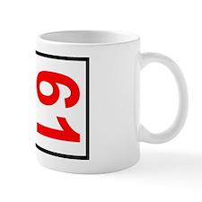 61 Autocross Number Plates Mug