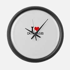 I Love Databases Large Wall Clock