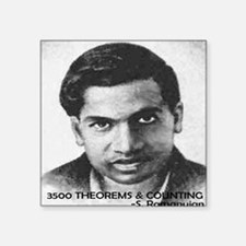 """ramanujan 3500 theorems and Square Sticker 3"""" x 3"""""""