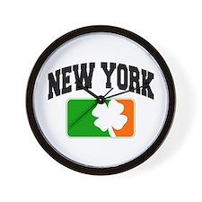 New York Shamrock Wall Clock