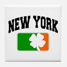 New York Shamrock Tile Coaster