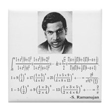 ramanujan and his equations Tile Coaster