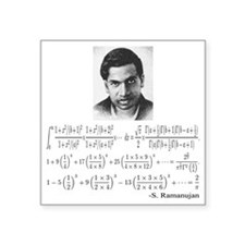 "ramanujan and his equations Square Sticker 3"" x 3"""
