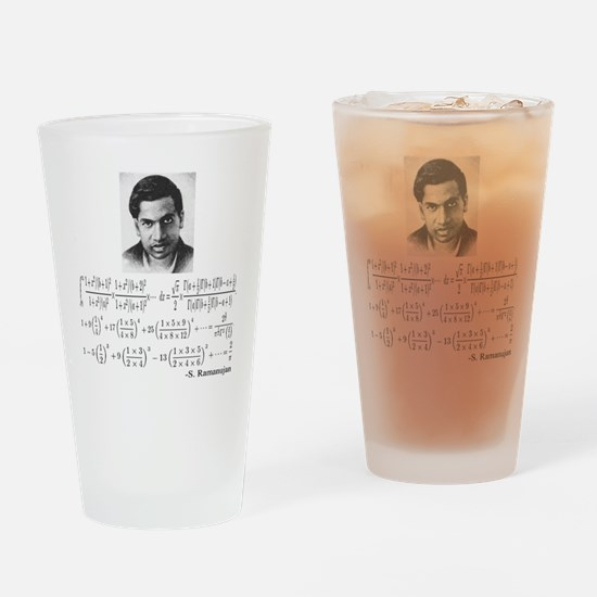 ramanujan and his equations Drinking Glass