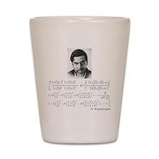 ramanujan and his equations Shot Glass