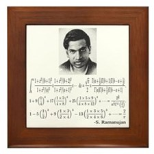 ramanujan and his equations Framed Tile