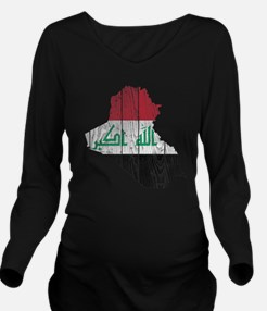 Iraq Flag and Map Wo Long Sleeve Maternity T-Shirt