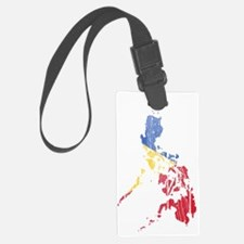 Philippines Flag and Map Wood Luggage Tag