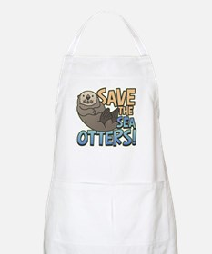 Save Sea Otters BBQ Apron