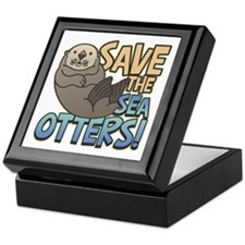 Save Sea Otters Keepsake Box