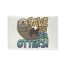 Save Sea Otters Rectangle Magnet