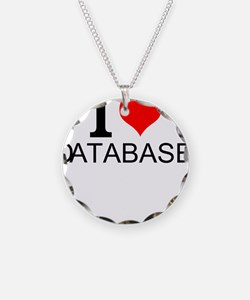 I Love Databases Necklace