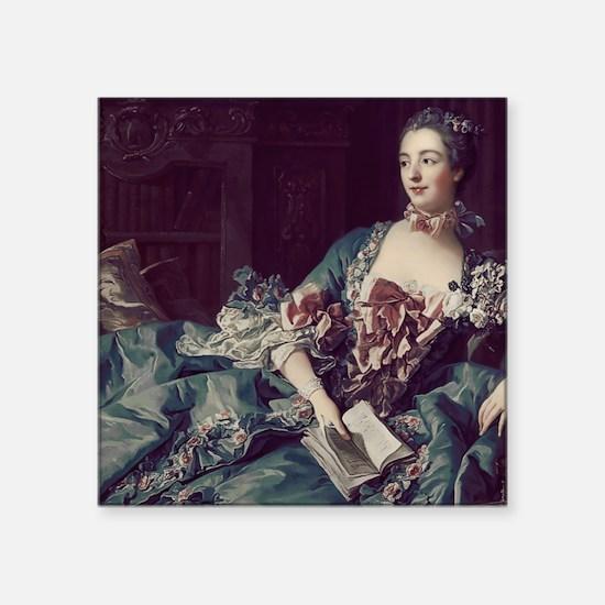 """Madame de Pompadour Square Sticker 3"""" x 3"""""""