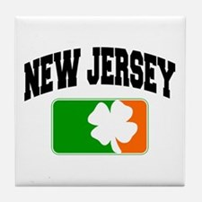 New Jersey Shamrock Tile Coaster