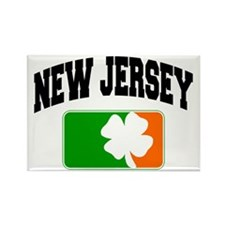 New Jersey Shamrock Rectangle Magnet