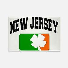 New Jersey Shamrock Rectangle Magnet