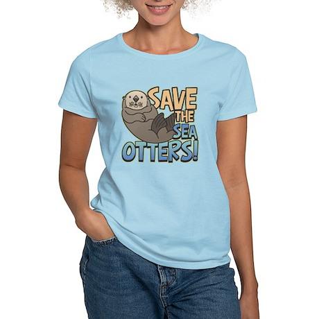 Save Sea Otters Women's Light T-Shirt