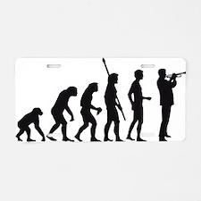 evolution trumpet player Aluminum License Plate