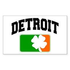 Detroit Shamrock Rectangle Sticker