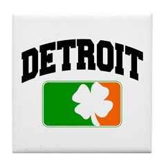 Detroit Shamrock Tile Coaster