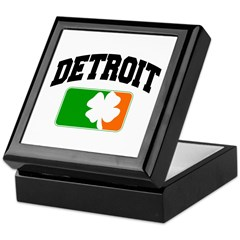 Detroit Shamrock Keepsake Box