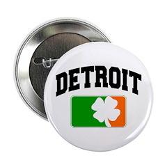 Detroit Shamrock Button