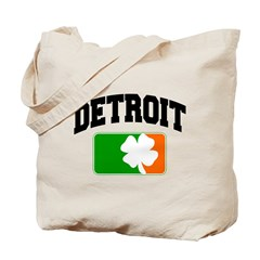 Detroit Shamrock Tote Bag