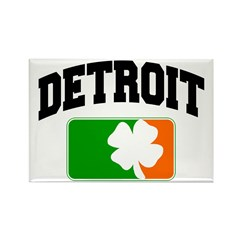 Detroit Shamrock Rectangle Magnet