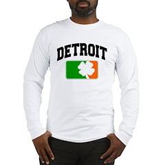 Detroit Shamrock Long Sleeve T-Shirt