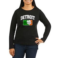 Detroit Shamrock Women's Long Sleeve Dark T-Shirt