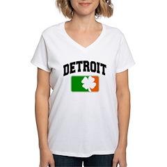 Detroit Shamrock Women's V-Neck T-Shirt