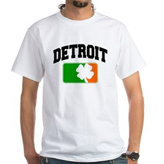 Detroit Shamrock White T-Shirt