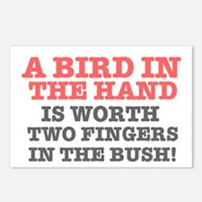 A BIRD IN THE HAND - TWO  Postcards (Package of 8)