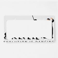 evolution dancing couple License Plate Holder