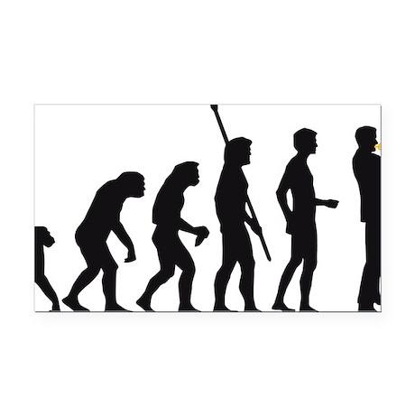 evolution trumpet player Rectangle Car Magnet