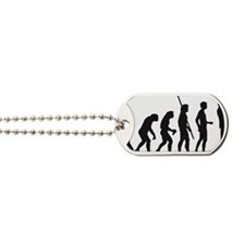 evolution trumpet player Dog Tags