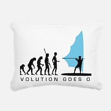 evolution windsurfer Rectangular Canvas Pillow