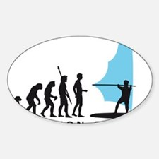 evolution windsurfer Sticker (Oval)