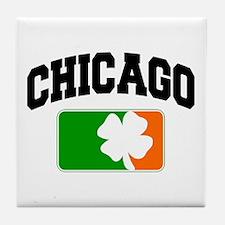 Chicago Shamrock Tile Coaster