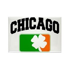 Chicago Shamrock Rectangle Magnet