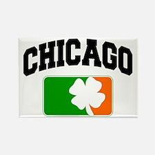 Chicago Shamrock Rectangle Magnet