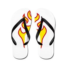 skull and wrenches Flip Flops