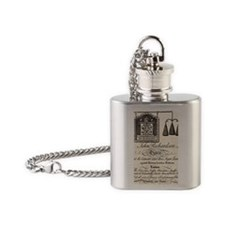 Antique Grocer Ad Flask Necklace